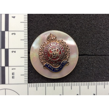 WW1 Royal Engineers Mother of Pearl Sweetheart
