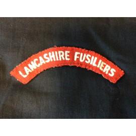Lancashire Fusiliers Cloth Title