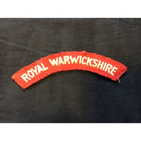 WW2 Royal Warwickshire Wool Title
