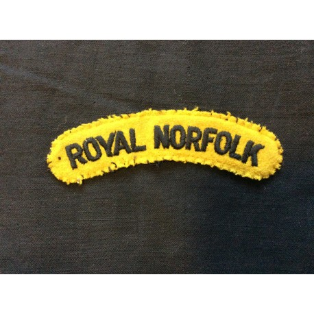 WW2 Royal Norfolk Wool Title