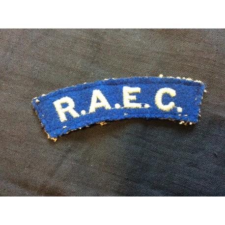 WW2 R.A.E.C Wool Title