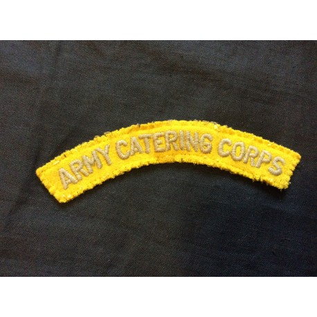 WW2 Army Catering Corps Wool Title