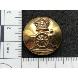 Q.V.C Royal Artillery Gilt Button