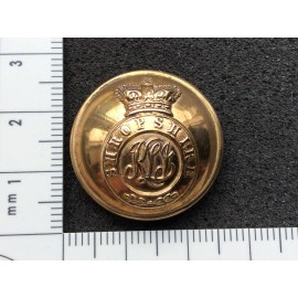 Victorian K.S.L.I Gilt Officers Button