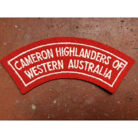 Cameron Highlanders of Western Australia Title