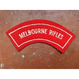 Melbourne Rifles Shoulder Title