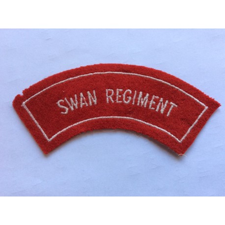 Australian Swan Regiment Bordered Title