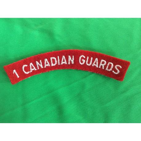 1st Canadian Guards Shoulder title