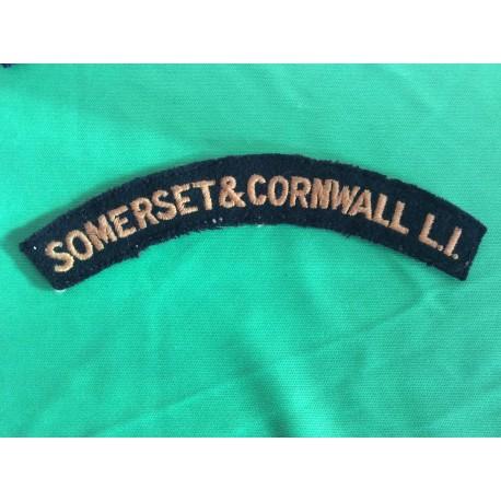 Somerset & Cornwall L.I Shoulder Title