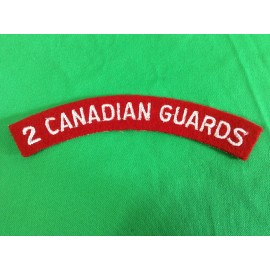 2nd Canadian Guards Cloth title