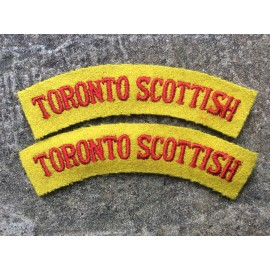 WW2 Toronto Scottish Cloth Shoulder Titles