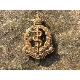 WW1 R.A.M.C Economy all brass cap badge