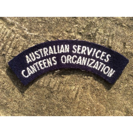 Australian Services Canteens Organisation Cloth Shoulder Title