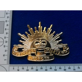 Anodised Rising Sun slouch Hat Badge by Decimal Tooling