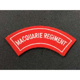 Australian Macquarie Regiment Shoulder Title