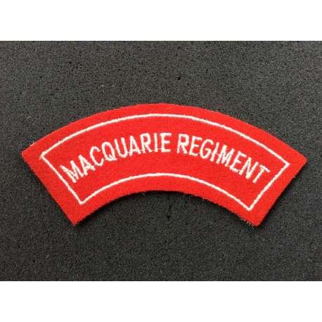 Australian Macquarie Regiment Shoulder Title