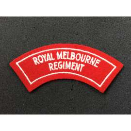 Royal Melbourne Regiment Cloth Shoulder Title