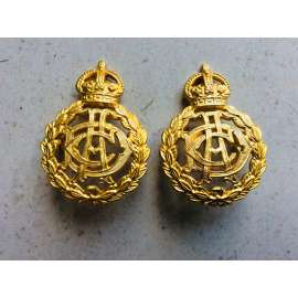 WW2 A.D.C ( Army Dental Corps) Officers Gilt Collar Badges