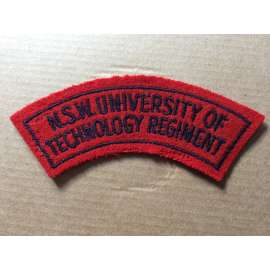 N.S.W UNIVERSITY OF TECHNOLOGY REGIMENT Shoulder title