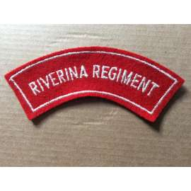 Australian RIVERINA REGIMENT cloth Shoulder title