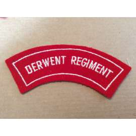 Australian DERWENT REGIMENT cloth Shoulder title