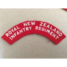 Royal New Zealand Infantry Regiment Cloth Shoulder Title