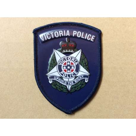 Australian Victoria Police leather jacket patch