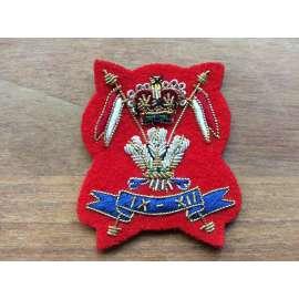 9th/12th Royal Lancers Officers Bullion Beret Badge