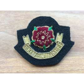 The Queens Lancashire Regiment Officers Bullion Beret Badge circa 2004