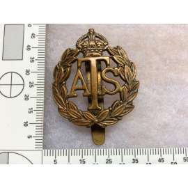 A.T.S Other Ranks Brass Cap badge