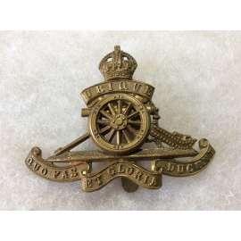 WW1/2 Royal Artillery, movable wheel Other Ranks Cap badge