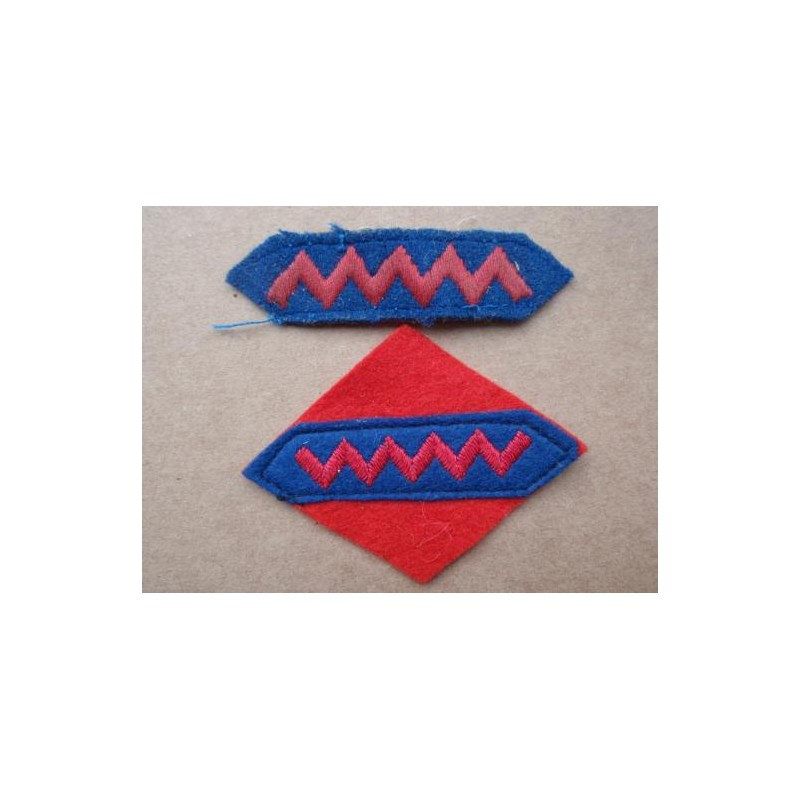 Ww2 1st Canadian A G R A Wool Sleeve Patches Gradia