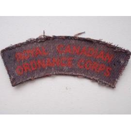 WW2 Royal Canadian Ordnance Corps Printed Shoulder Title