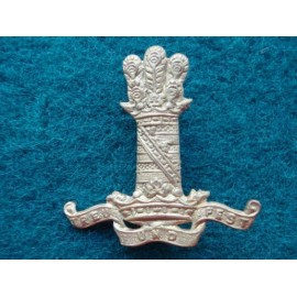 11th HUSSARS brass cap badge