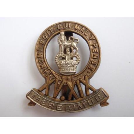 The 15th (The Kings) Hussars Bi/m Cap Badge