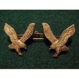 Army Air Corps Officers Dress Uniform Silver Collar Badges