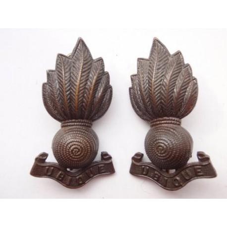 Ww1 2 Artillery Officers Bronze Collar Badges Gradia