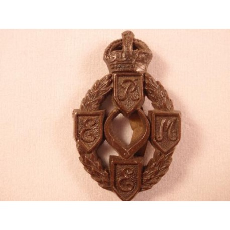 Royal Electrical and Mechanical Engineers Plastic Cap Badge
