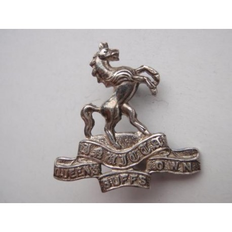 The Queens Own Buffs Officers Silver Collar Badge Gradia