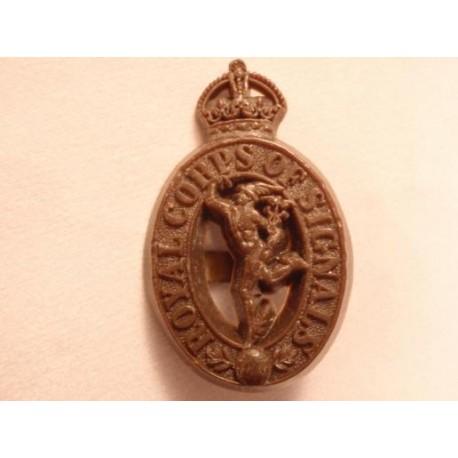 Royal Corps of Signals Plastic Cap Badge