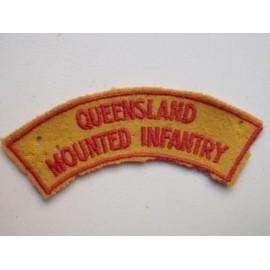 Queensland Mounted infantry Shoulder Title