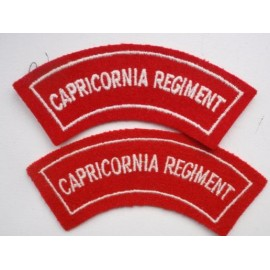 Capricornia Regt Embroidered Shoulkder Titles