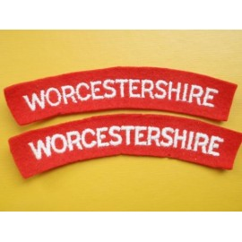 WW2 WORCESTERSHIRE Shoulder Titles