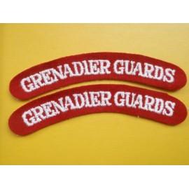 Grenadier Guards Wool Shoulder Titles