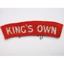 WW2 KING'S OWN Shoulder Title