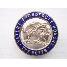 The BUFFS (Royal East Kent Regiment) w/m and Enamel Lapel Badge