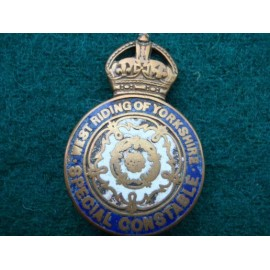 WW1 West Riding of Yorkshire Special Constable Lapel Badge