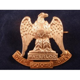 Royal Scots Greys (2nd Dragoons) Bi-metal Cap Badge