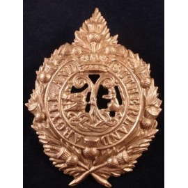 Argyll and Sutherland Highlanders White Metal Cap Badge