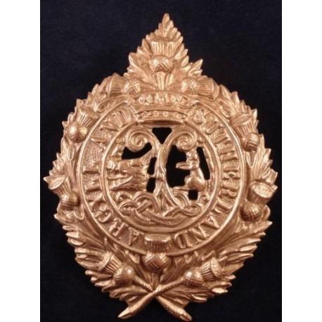 Argyll and Sutherland Highlanders White Metal Cap Badge